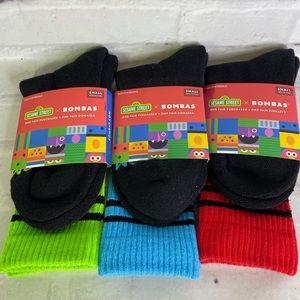 Bombas Sesame Street 3 Socks Elmo Grouch Cookie